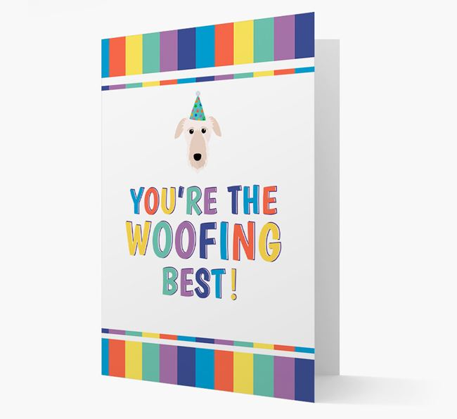 'You're the Woofing Best' Card with Deerhound Icon