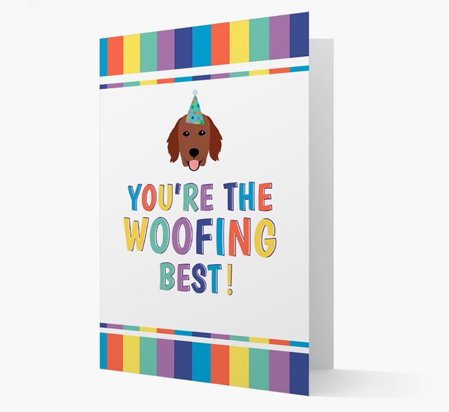 'You're the Woofing Best' Card with Flat-Coated Retriever Icon