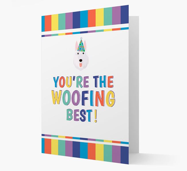 'You're the Woofing Best' Card with German Shepherd Icon