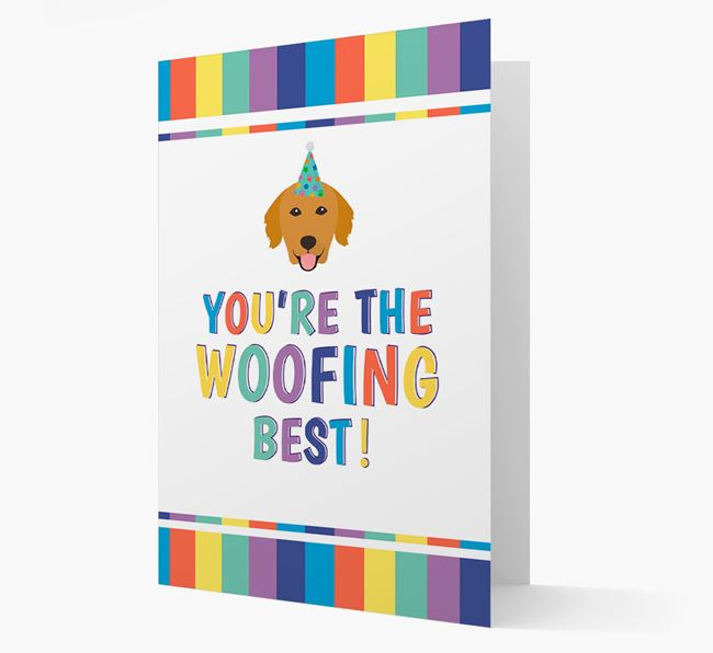 'You're the Woofing Best' Card with Golden Retriever Icon