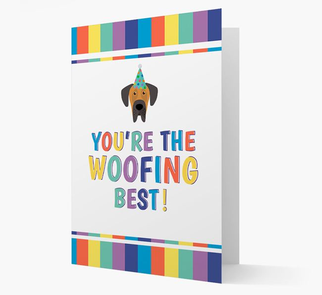 'You're the Woofing Best' Card with Great Dane Icon