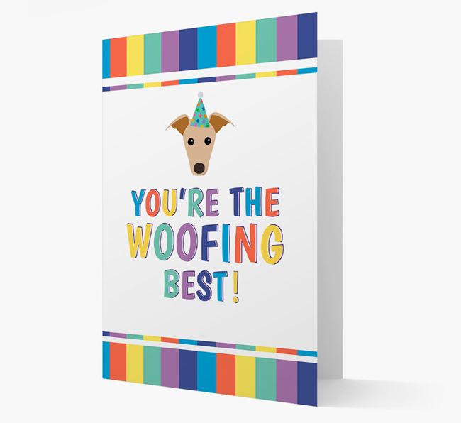 'You're the Woofing Best' Card with Greyhound Icon