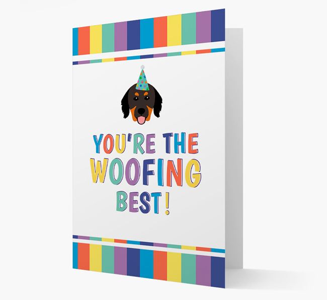 'You're the Woofing Best' Card with Hovawart Icon