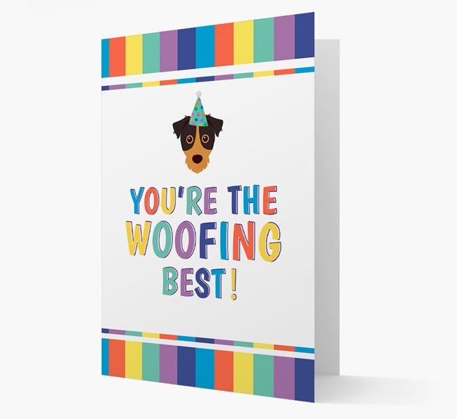 'You're the Woofing Best' Card with Jack Russell Terrier Icon