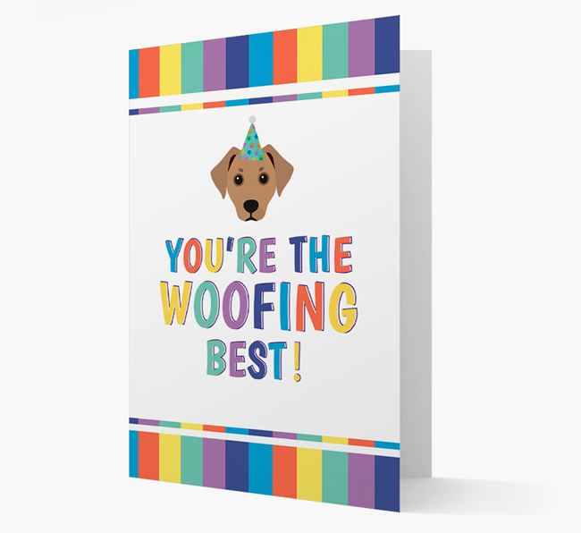 'You're the Woofing Best' Card with Jackshund Icon