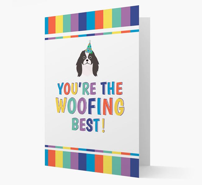 'You're the Woofing Best' Card with Japanese Chin Icon