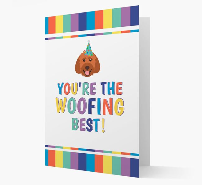 'You're the Woofing Best' Card with Labradoodle Icon