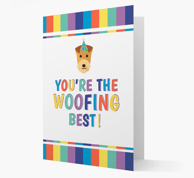 'You're the Woofing Best' Card with Lakeland Terrier Icon
