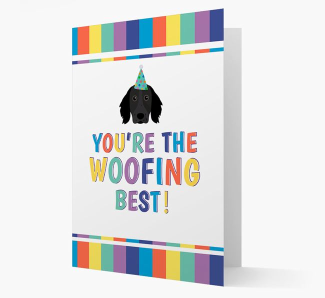 'You're the Woofing Best' Card with Large Munsterlander Icon