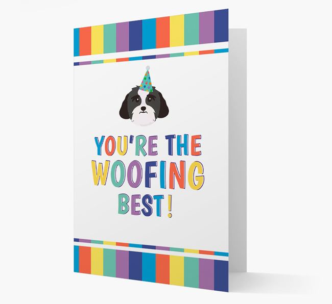 'You're the Woofing Best' Card with Lhasa Apso Icon