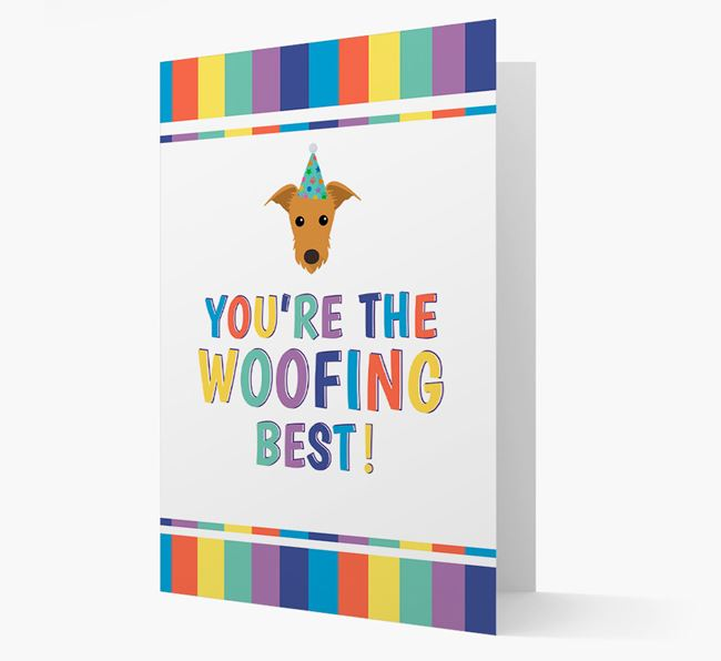'You're the Woofing Best' Card with Lurcher Icon