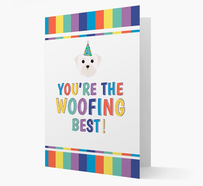 'You're the Woofing Best' Card with Maltese Icon