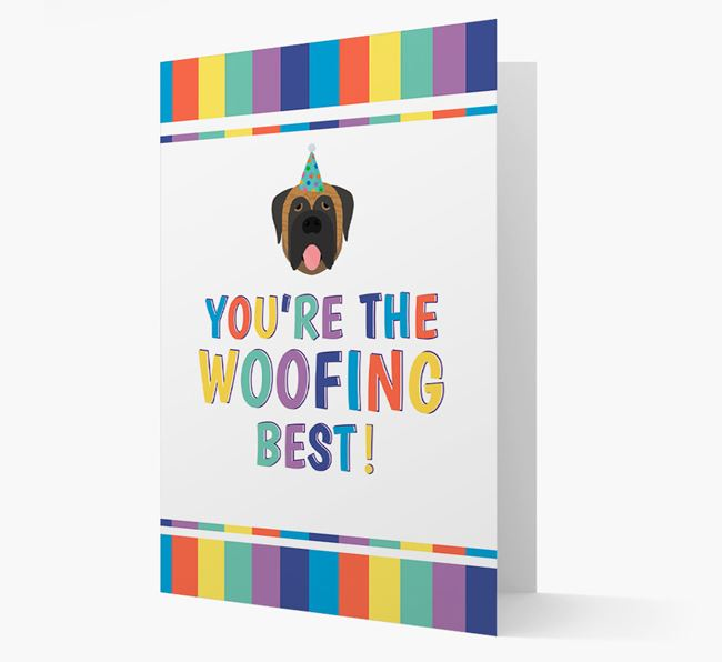 'You're the Woofing Best' Card with Mastiff Icon