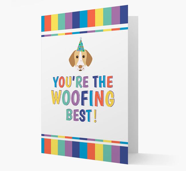 'You're the Woofing Best' Card with Pointer Icon