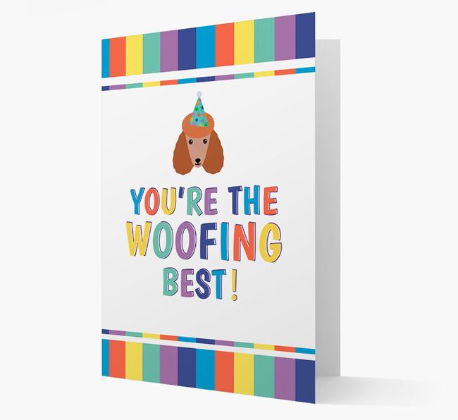 'You're the Woofing Best' Card with Poodle Icon