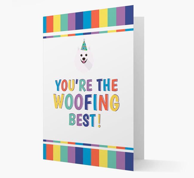 'You're the Woofing Best' Card with Samoyed Icon