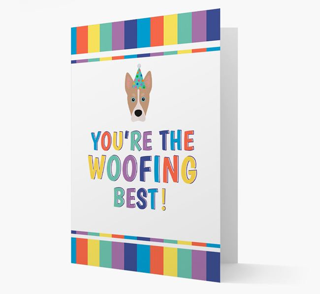 'You're the Woofing Best' Card with Siberian Cocker Icon