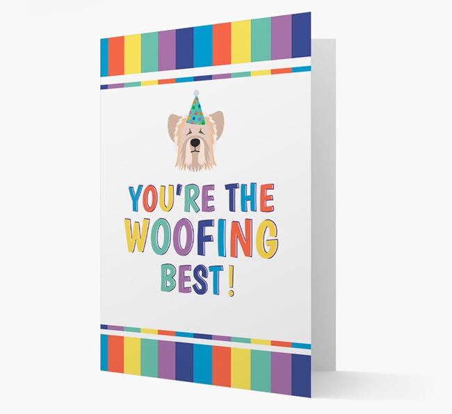 'You're the Woofing Best' Card with Skye Terrier Icon