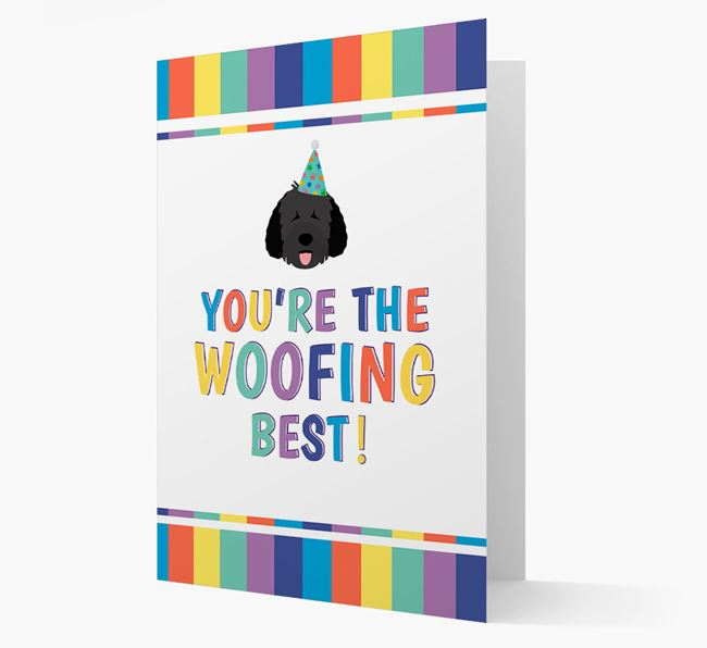 'You're the Woofing Best' Card with Spanish Water Dog Icon
