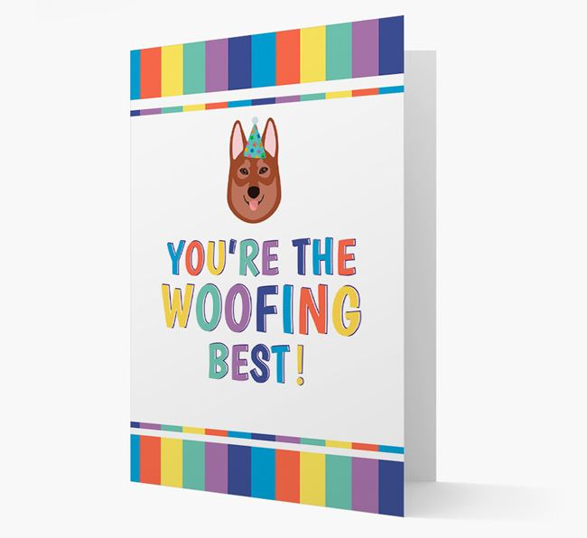 'You're the Woofing Best' Card with Tamaskan Icon