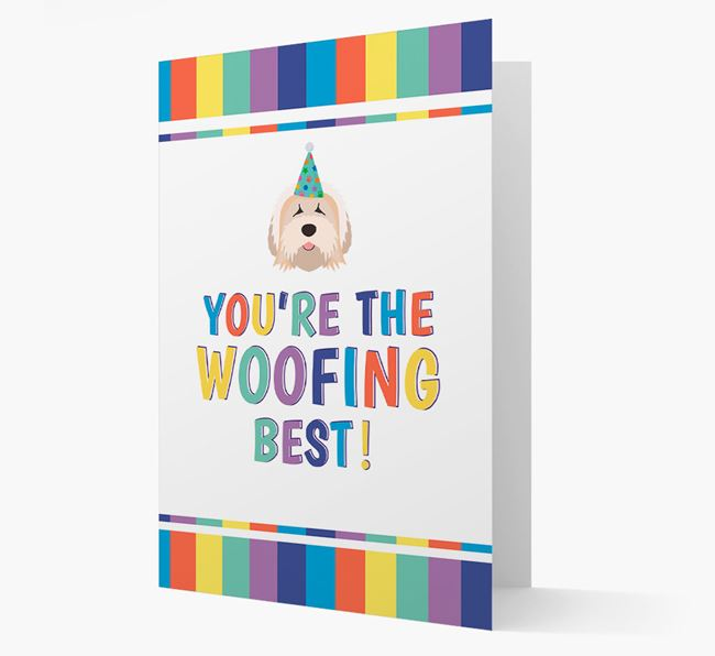 'You're the Woofing Best' Card with Tibetan Terrier Icon