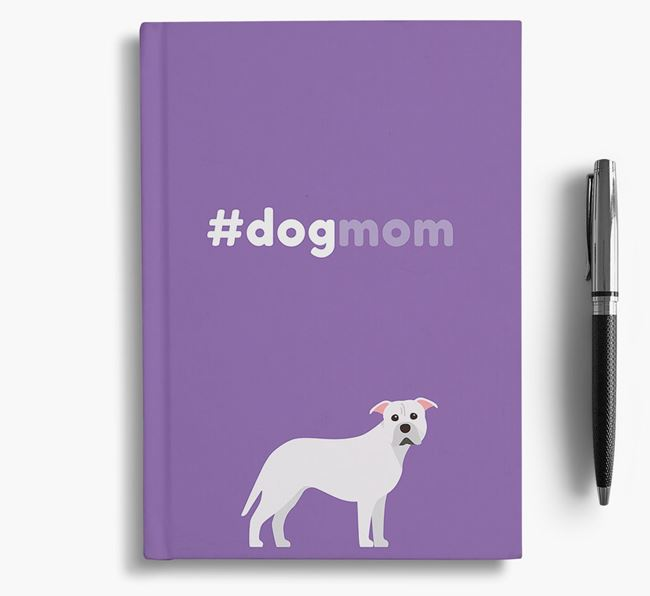 #Dogmom Notebook with American Pit Bull Terrier Icon