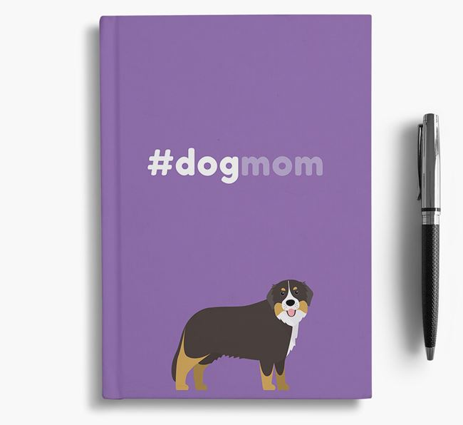 #Dogmom Notebook with Bernese Mountain Dog Icon