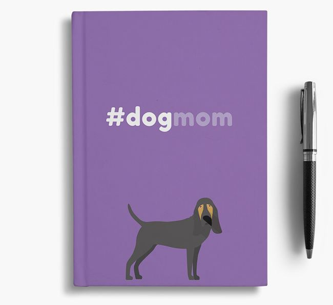 #Dogmom Notebook with Bloodhound Icon