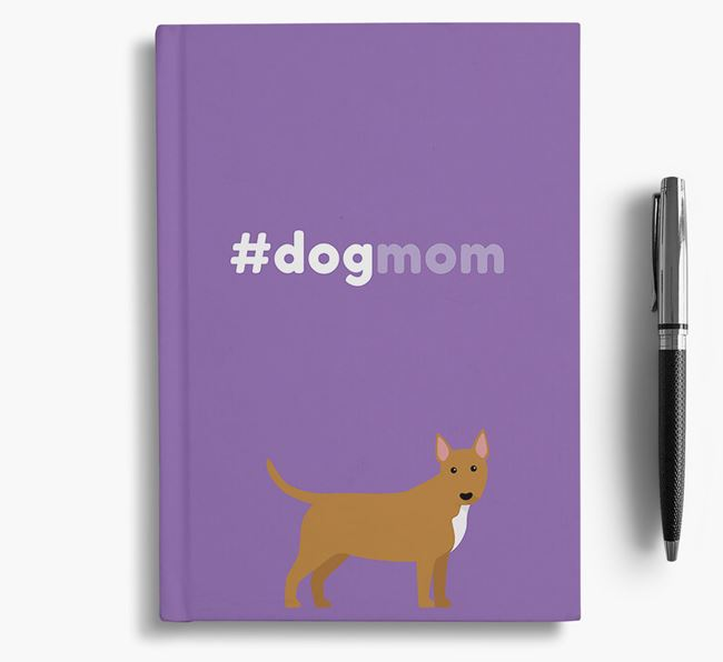#Dogmom Notebook with Bull Terrier Icon