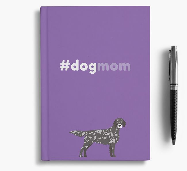 #Dogmom Notebook with English Setter Icon