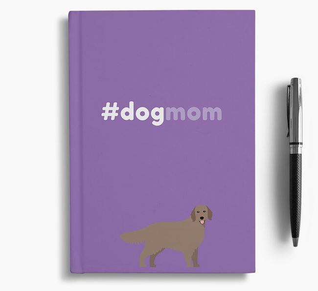#Dogmom Notebook with Flat-Coated Retriever Icon