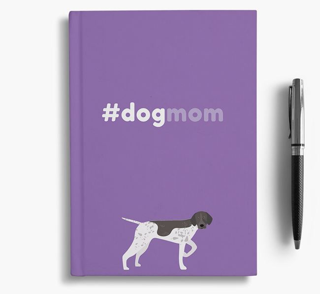 #Dogmom Notebook with German Shorthaired Pointer Icon