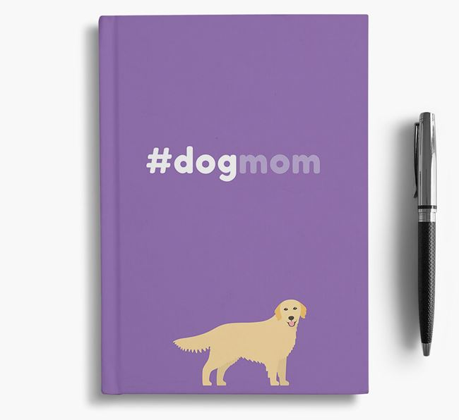 #Dogmom Notebook with Golden Retriever Icon