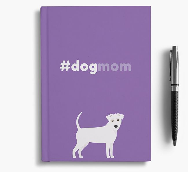 #Dogmom Notebook with Jack-A-Poo Icon