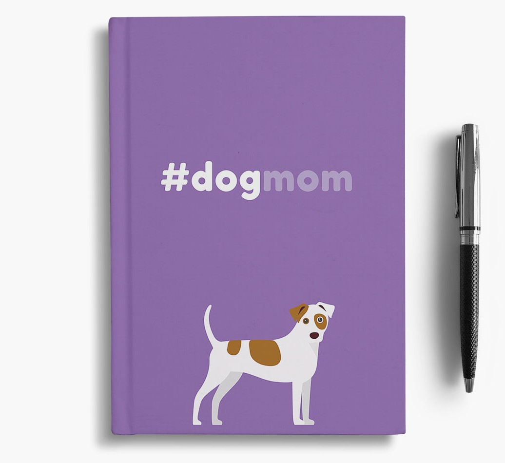 #Dogmom Notebook with Dog Icon