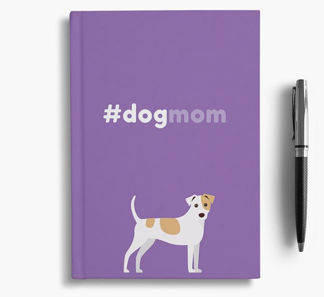 #Dogmom Notebook with Jack Russell Terrier Icon
