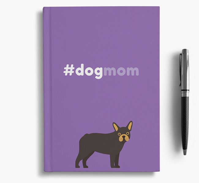 #Dogmom Notebook with Mixed Breed Icon