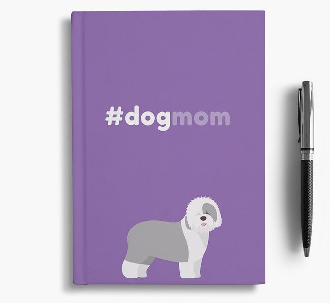 #Dogmom Notebook with Old English Sheepdog Icon