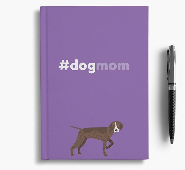 #Dogmom Notebook with Pointer Icon