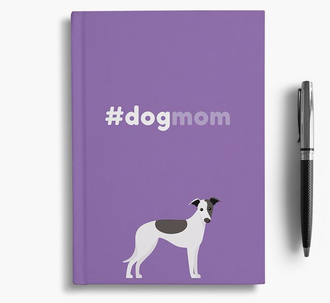 #Dogmom Notebook with Whippet Icon