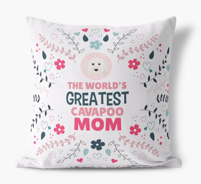 'World's Greatest Cavapoo Mom' Pillow