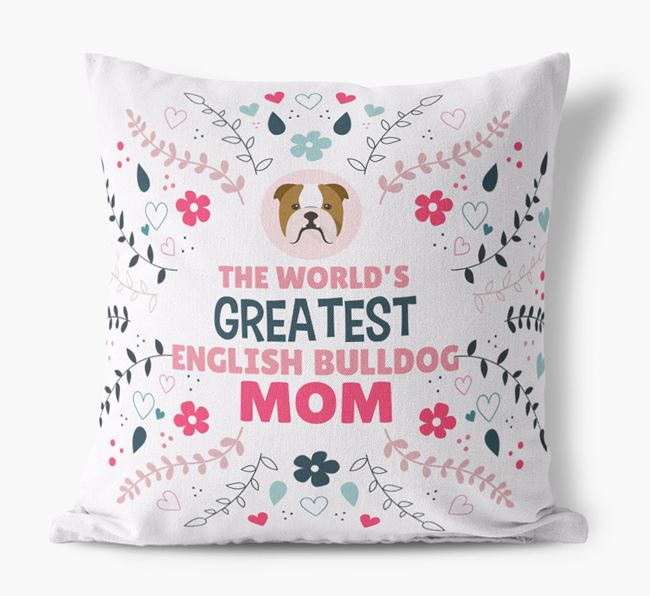 'World's Greatest Dog Mom' Pillow