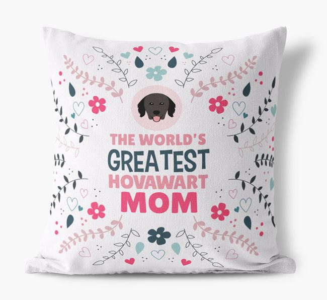 'World's Greatest Hovawart Mom' Pillow