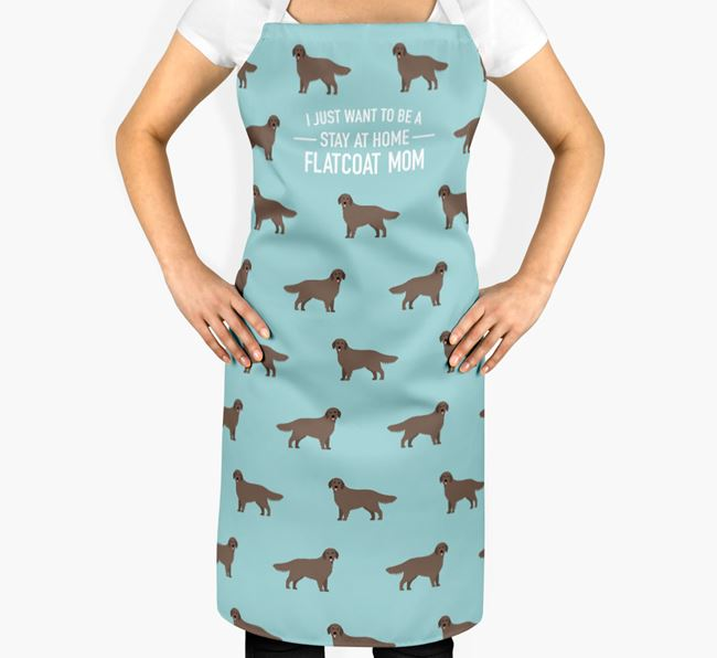 'Stay at Home Flatcoat Mom' Apron