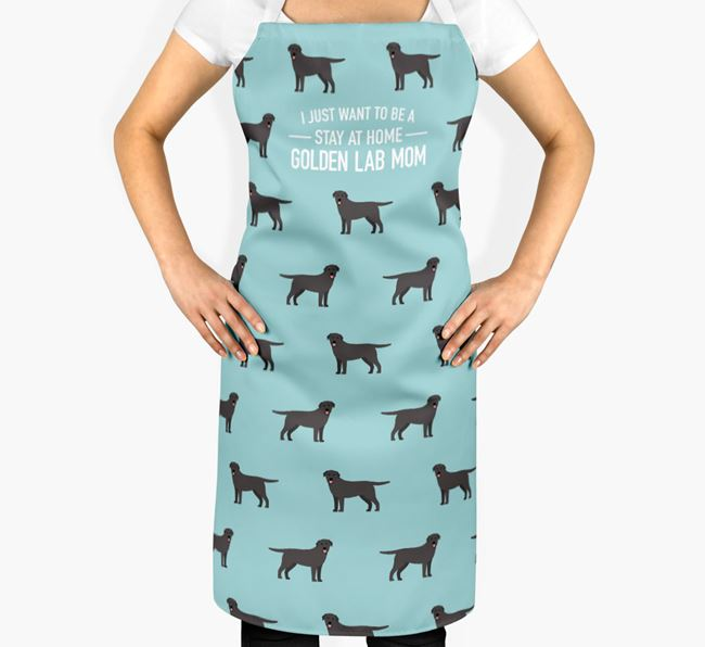 'Stay at Home Golden Lab Mom' Apron