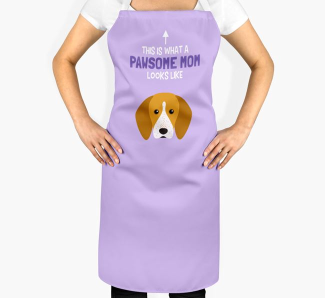 'Pawsome Mom' Apron with English Coonhound Icon
