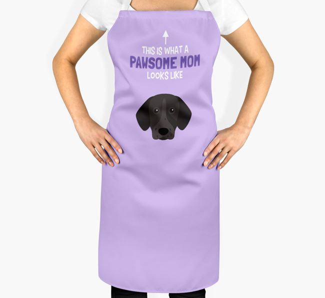 'Pawsome Mom' Apron with German Shorthaired Pointer Icon