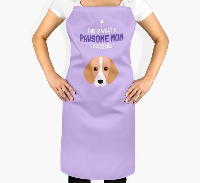 'Pawsome Mom' Apron with Harrier Icon