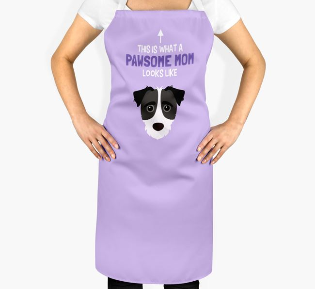 'Pawsome Mom' Apron with Jack-A-Poo Icon