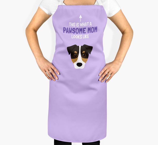 'Pawsome Mom' Apron with Jack Russell Terrier Icon